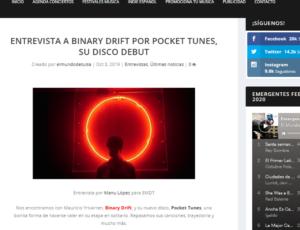 Entrevista a Binary Drift por Pocket Tunes, su disco debut