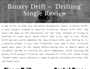 Binary Drift – 'Drifting' Single Review