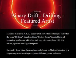 Binary Drift – Drifting – Featured Artist
